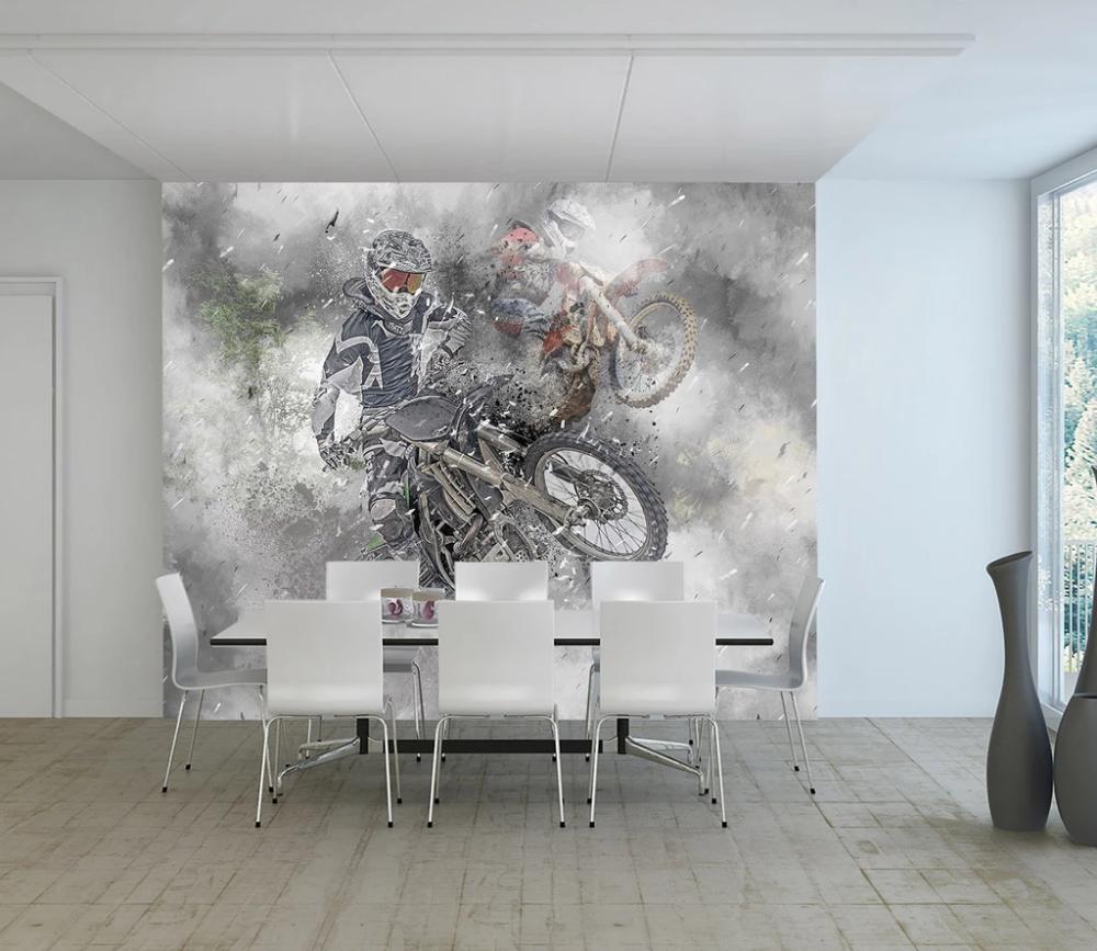 3D Dirt Bike 979 Vehicle Wall Murals