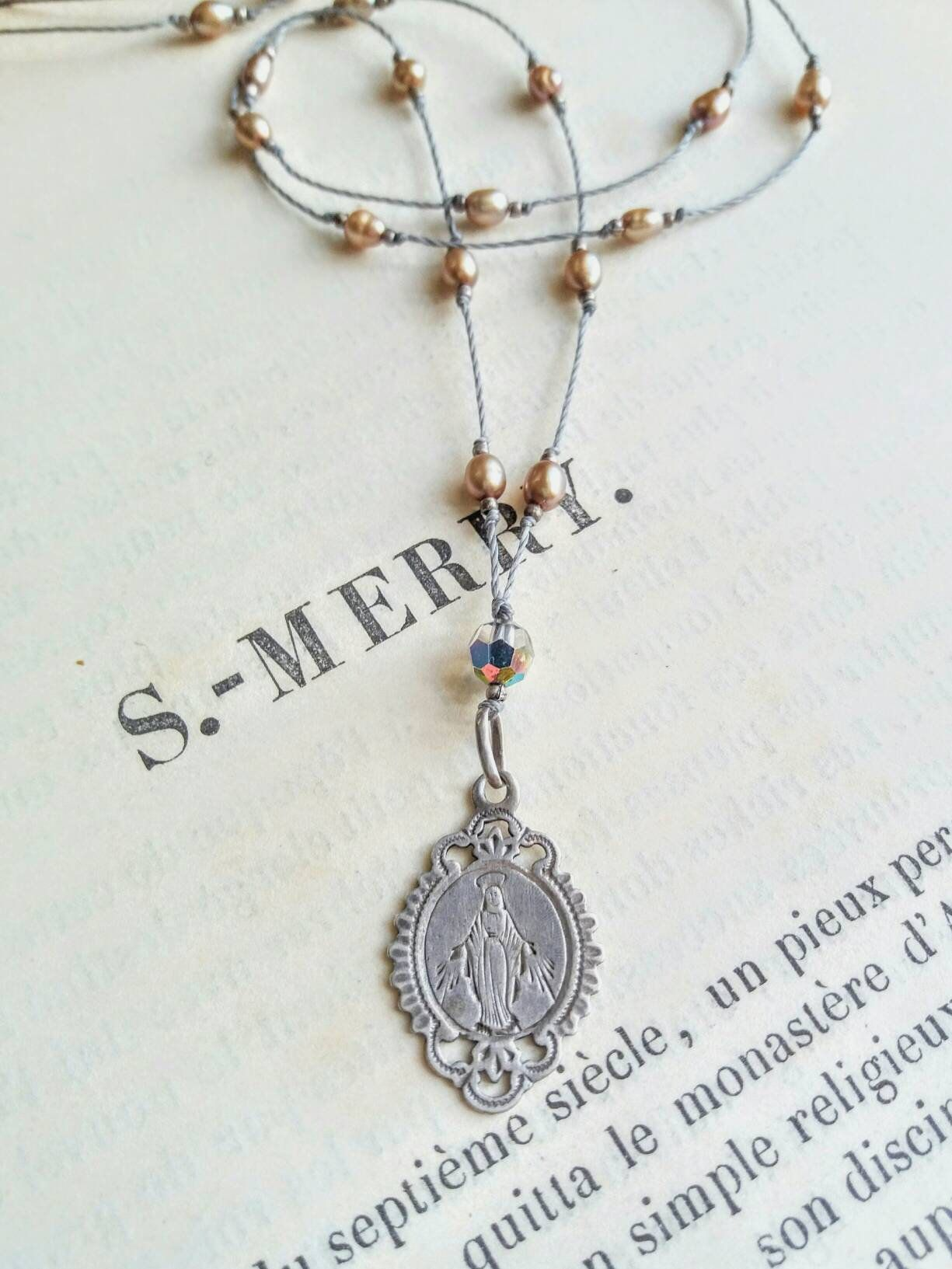 Sterling antique virgin mary pendant necklace pinterest virgin