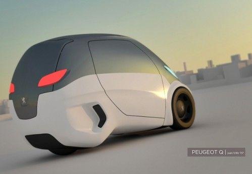 Peugeot Q Eco Cars Electric Cars Three Wheeled Cars Futuristic