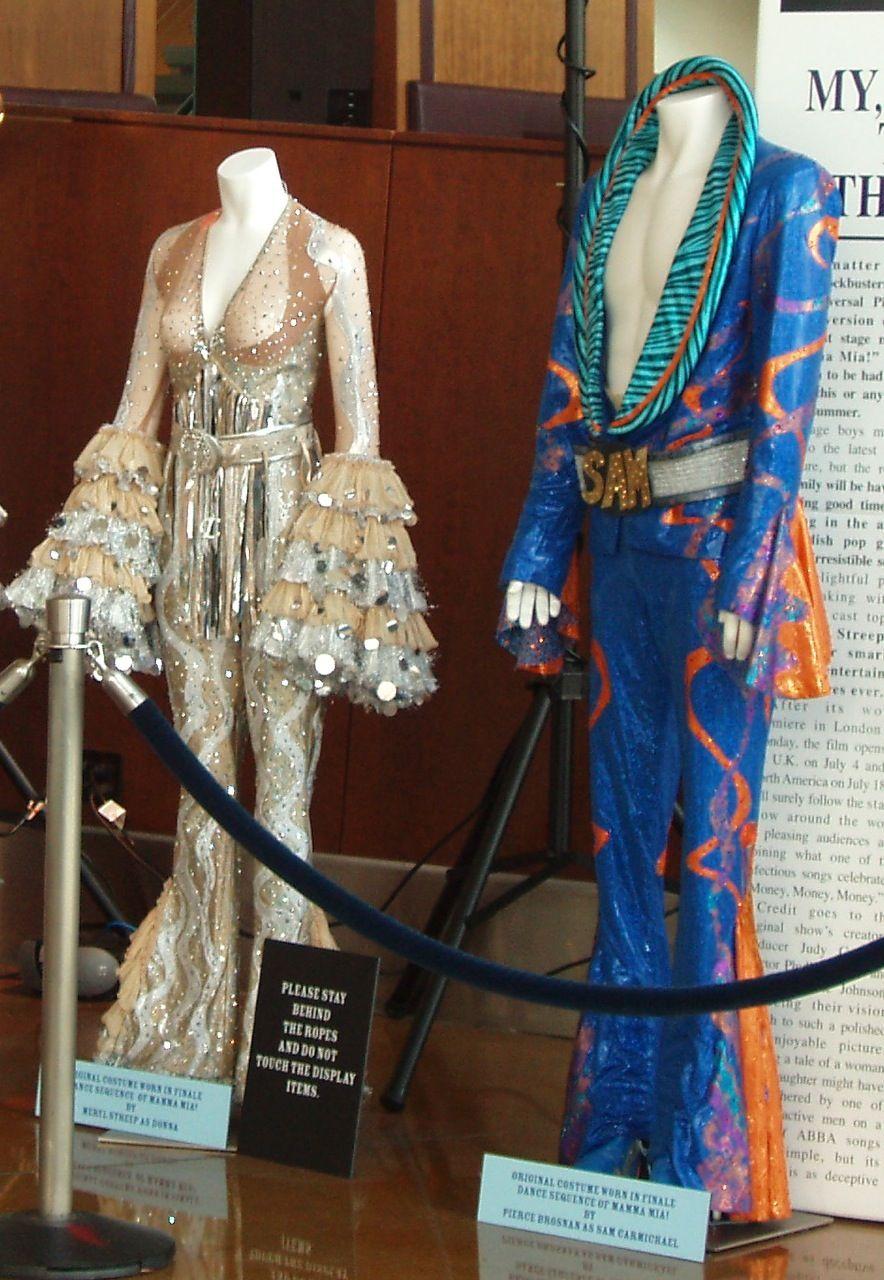 Mamma Mia The Movie Meryl Streep and Pierce Brosnan finale costumes