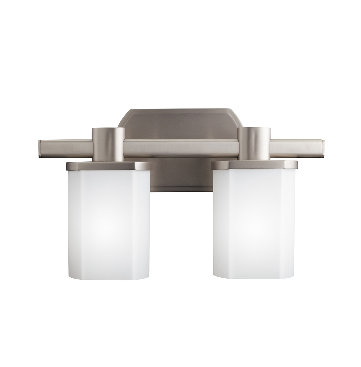 Photo Gallery For Photographers Kichler Lighting Kichler Brushed Nickel Modern Bathroom Light with White Glass