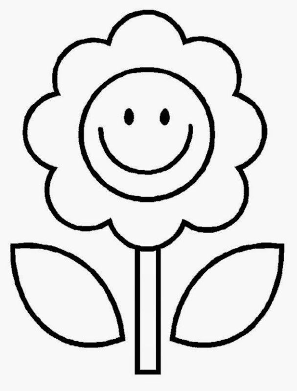 Flower Coloring Pages Kids Coloring Pages For Kids Easy Coloring Pages Flower Coloring Pages Spring Coloring Pages