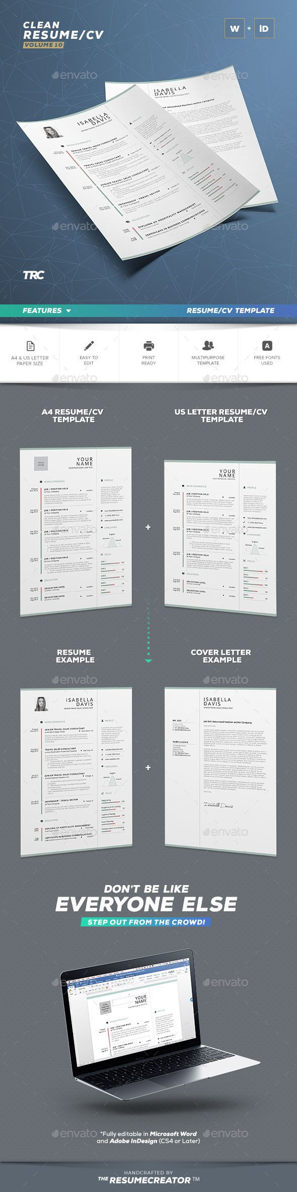 Clean Resume/Cv Volume 10
