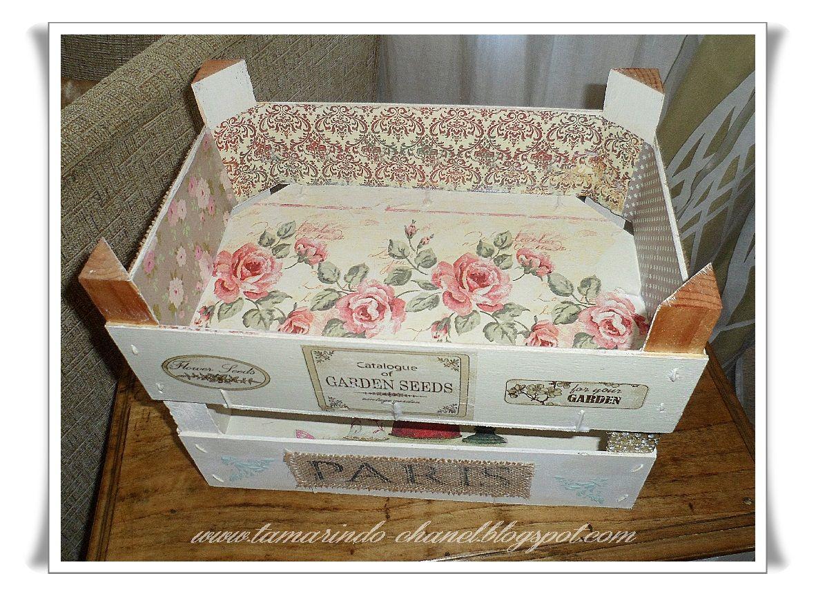En el desv n seguimos con las cajas de fresas cajas de - Cajas de fruta decoracion ...