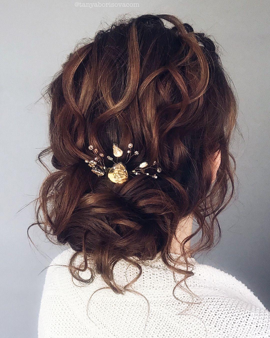 Gorgeous Hairstyle Inspiration - updo wedding hairstyle , textured updo, messy updo, hairstyles #hair #hairstyles