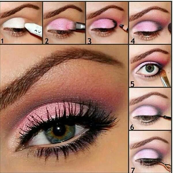 Eye makeup, pink, beauty