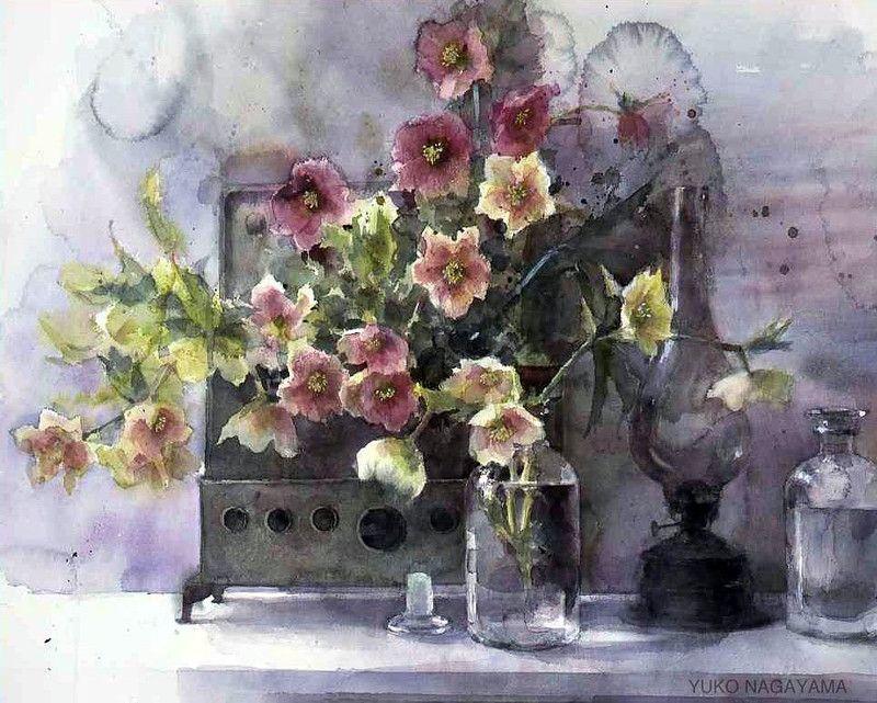 Flower watercolor artist ... Yuko Nagayama .. Discussion on LiveInternet - Russian Service Online Diaries