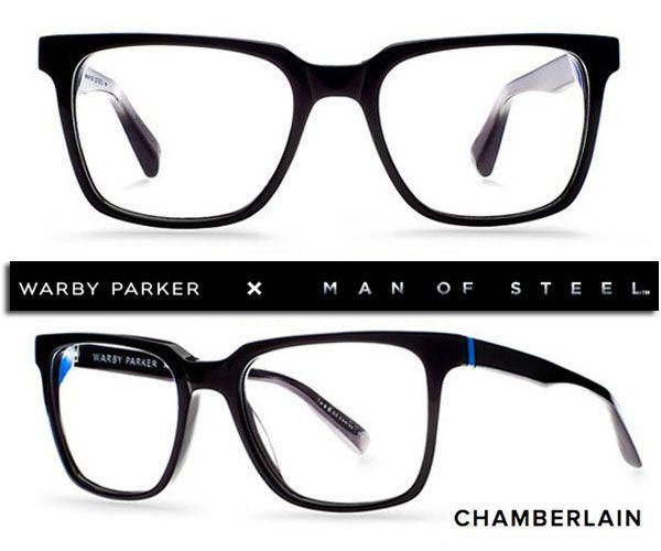 c1841a1282ee man of steel lunettes warby parker chamberlain Man Of Steel  Lunettes Clark  Kent par Warby Parker sous Licence