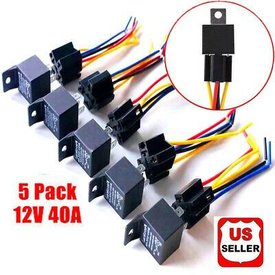 Car Relay 5 Pin Harness Set,Automotive Set 5-Pin 30//40A 12V SPDT