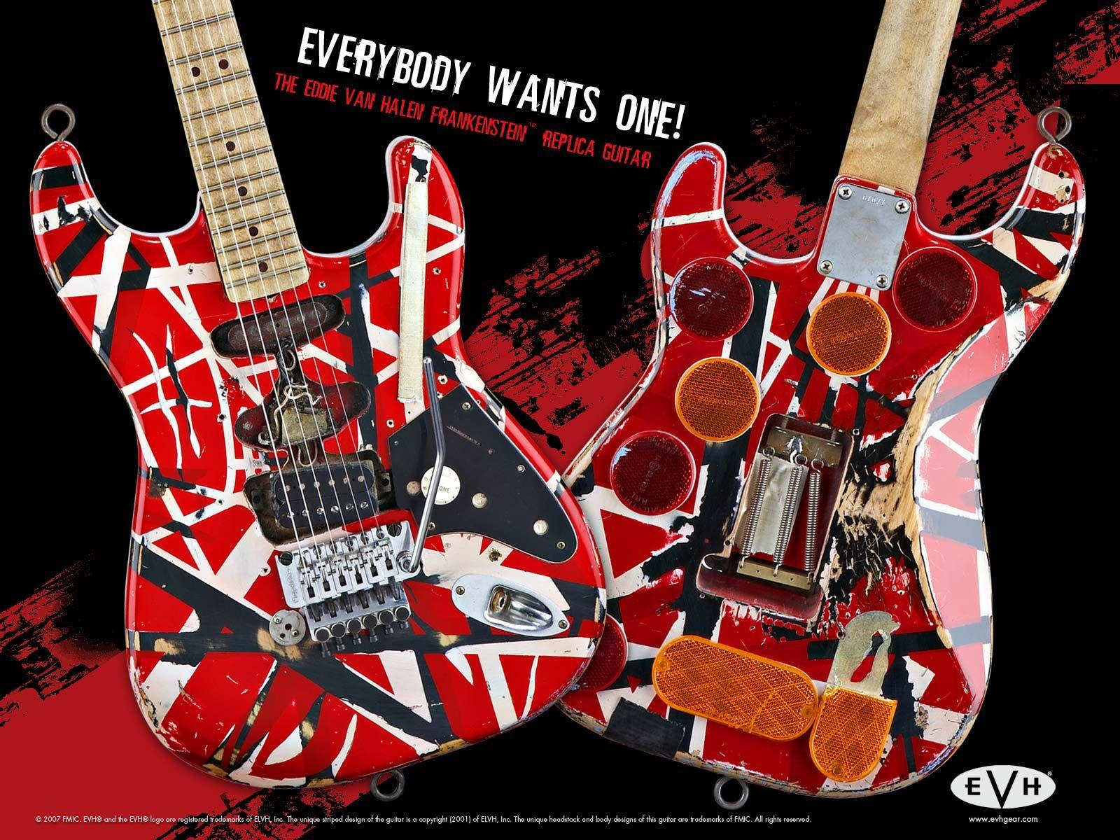 The Eddie Van Halen Frankenstein Replica Guitar Van Halen Eddie Van Halen Halen