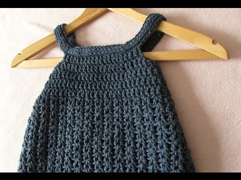 Very Easy Simple Crochet Pinafore Dress Tutorial Baby And Child
