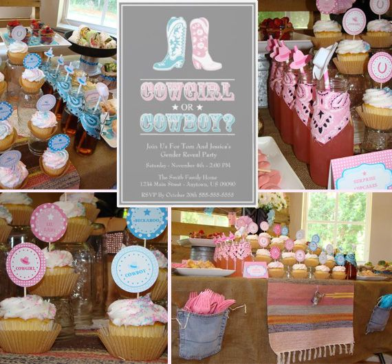 Baby Shower Reveal Party: Gender Reveal Ideas Cowboy And Diva