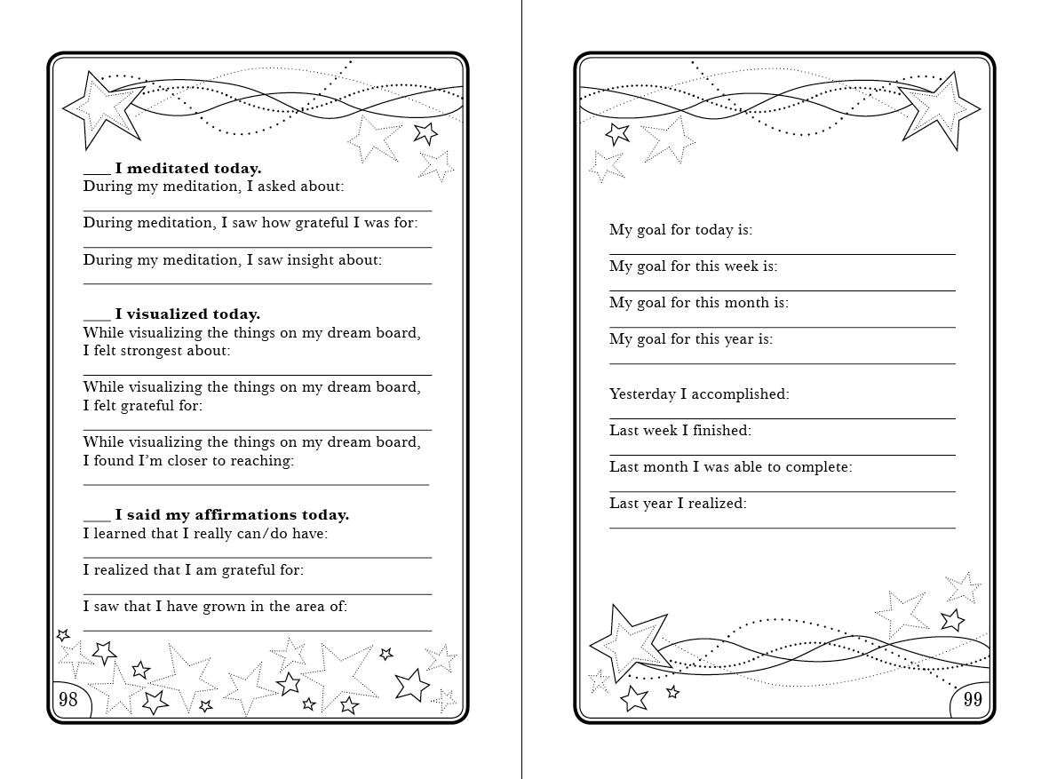 Daily Goals Worksheet