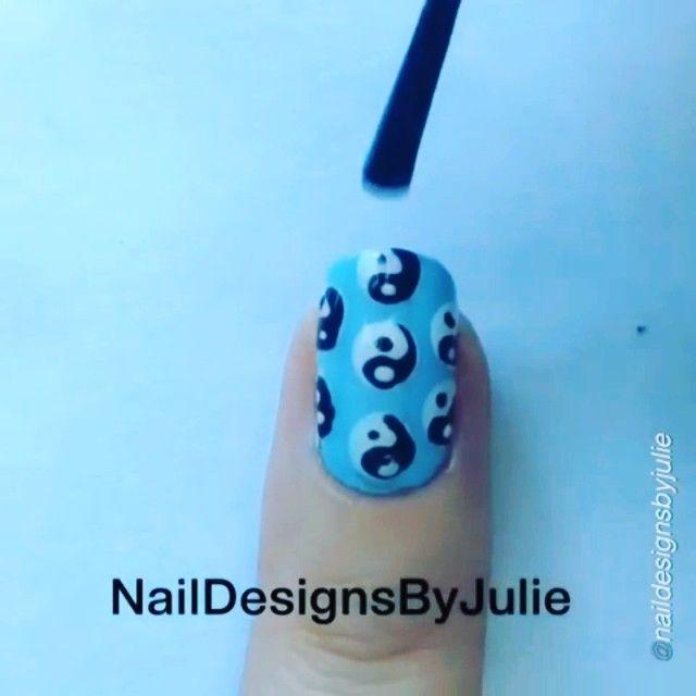 Nail DIY tutorial. Yin Yang. By @naildesignsbyjulie Press Play▶️ - Yin Yang Tutorial☯ - To create the black part press down with with the brush and lift up on your way down the side! - song: Domino- Jessie J - yin yangs☯ or infinity signs∞ ?  #nailideas #nail #nailart #nailpolish #nailhowto #nailtutorial #nailartdesign #naildiy #tutorial #tutorials #instructions #instruction #nailswag #nailartjunkie #diyideas #polish #nailvideos #nailartvideos #nailsart #nailpictorial #nailarts #dottingtool…