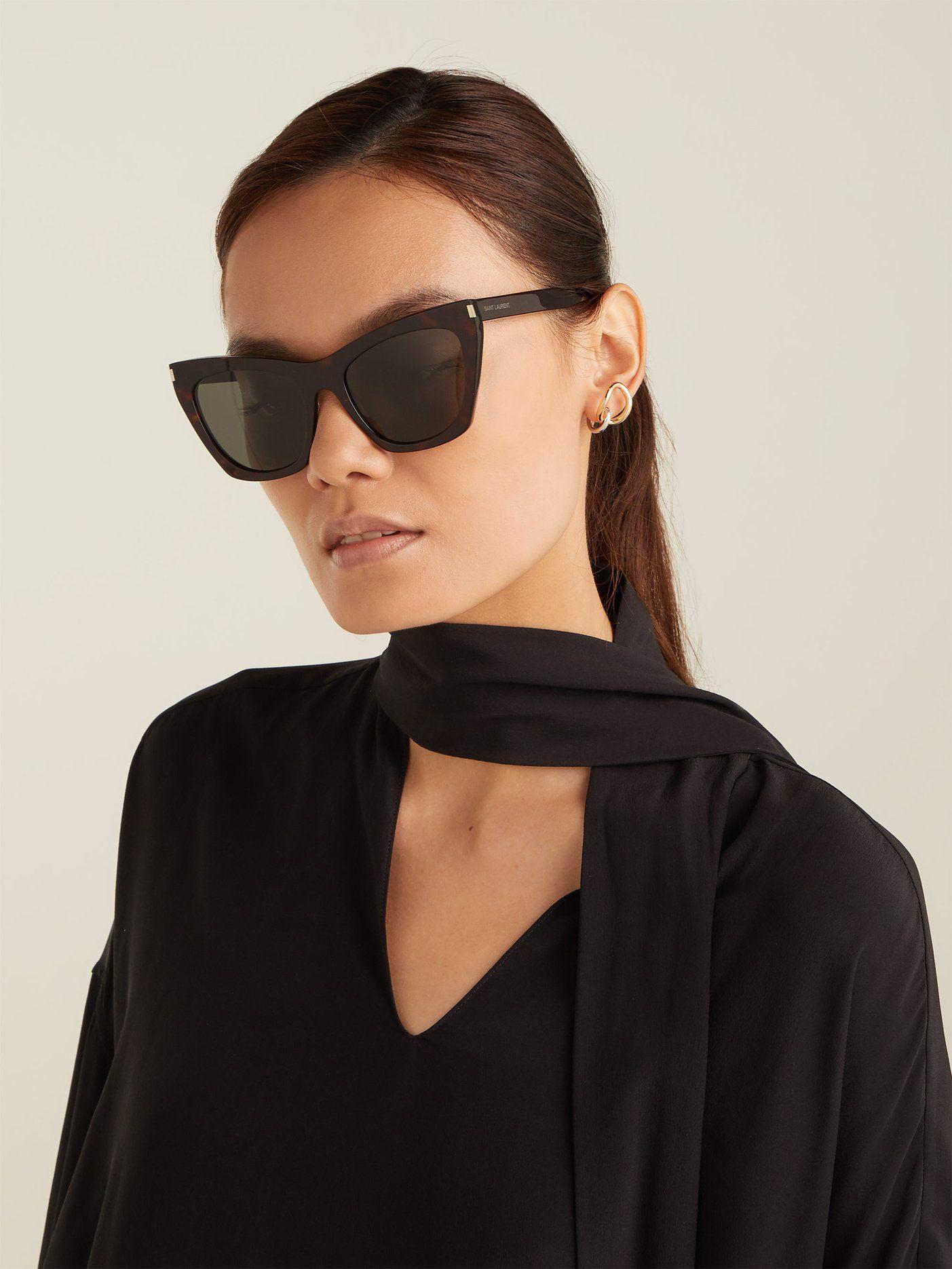 aa40c4e3071d Kate cat-eye acetate sunglasses | Saint Laurent | MATCHESFASHION.COM ...