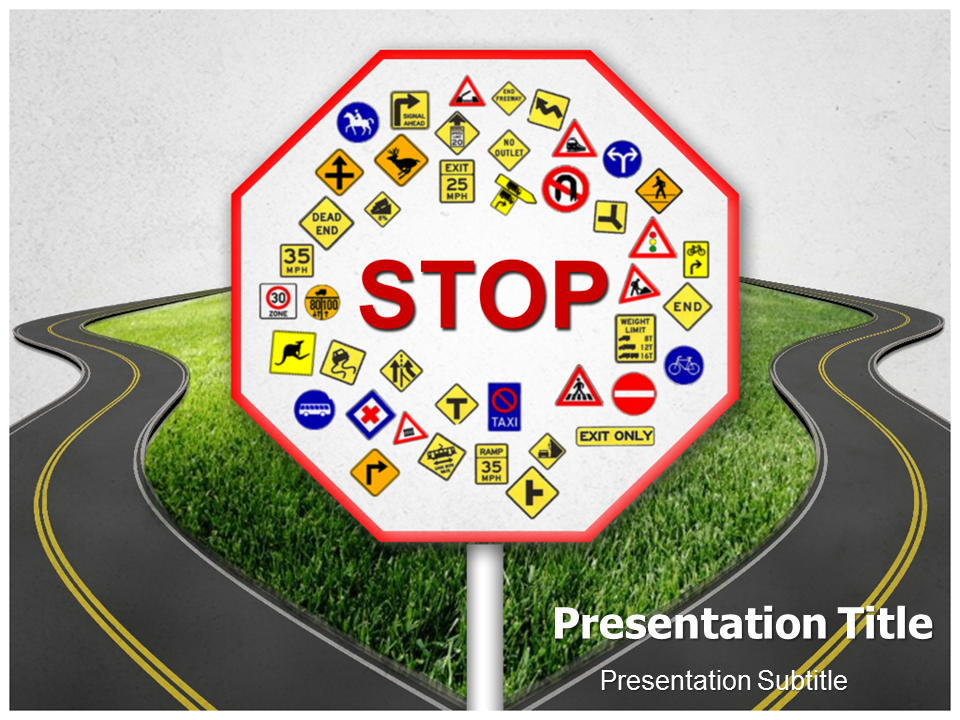 we have the best collection of road signs templates for powerpoint, Powerpoint templates