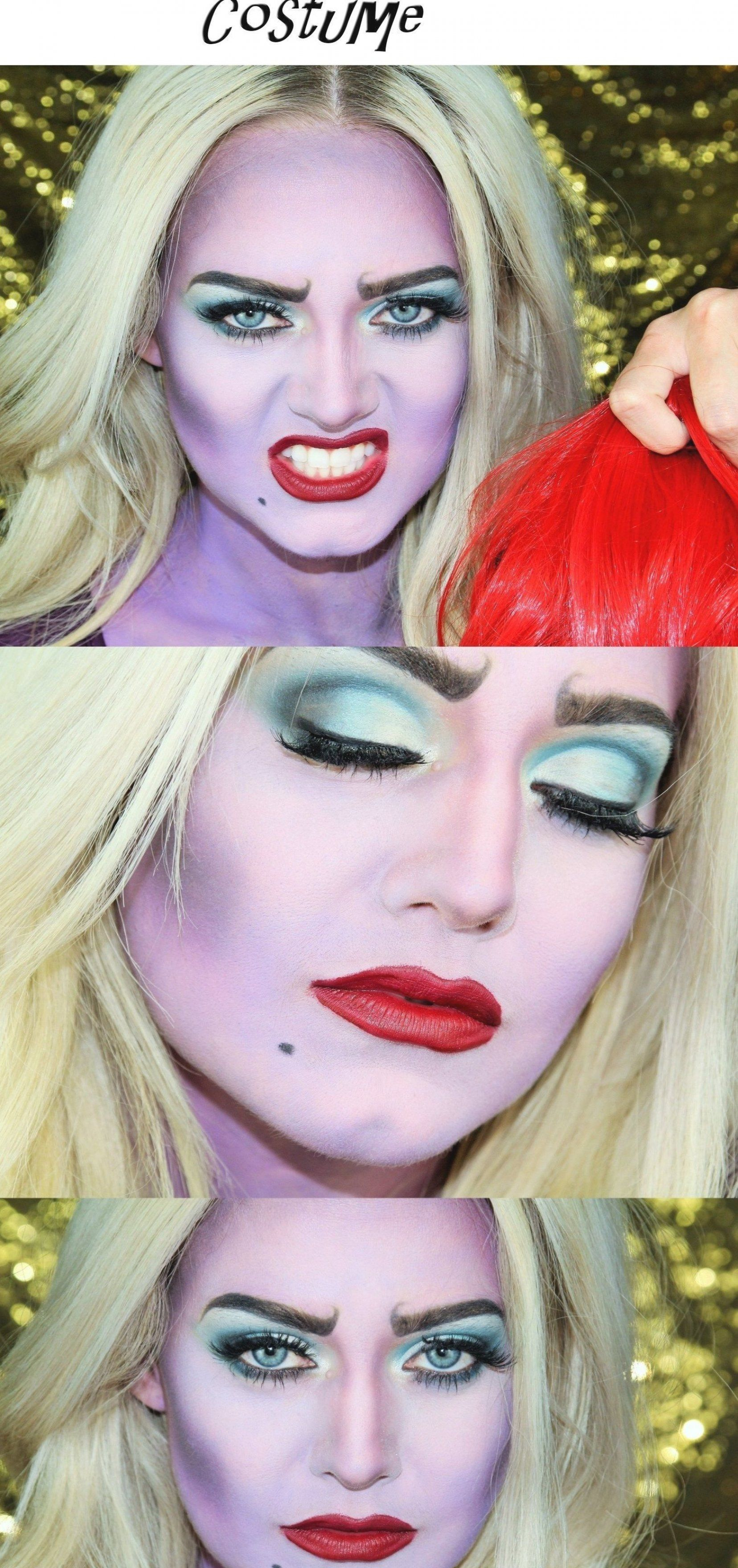 Mommy and Me Ursula Halloween 2017 Makeup Tutorial