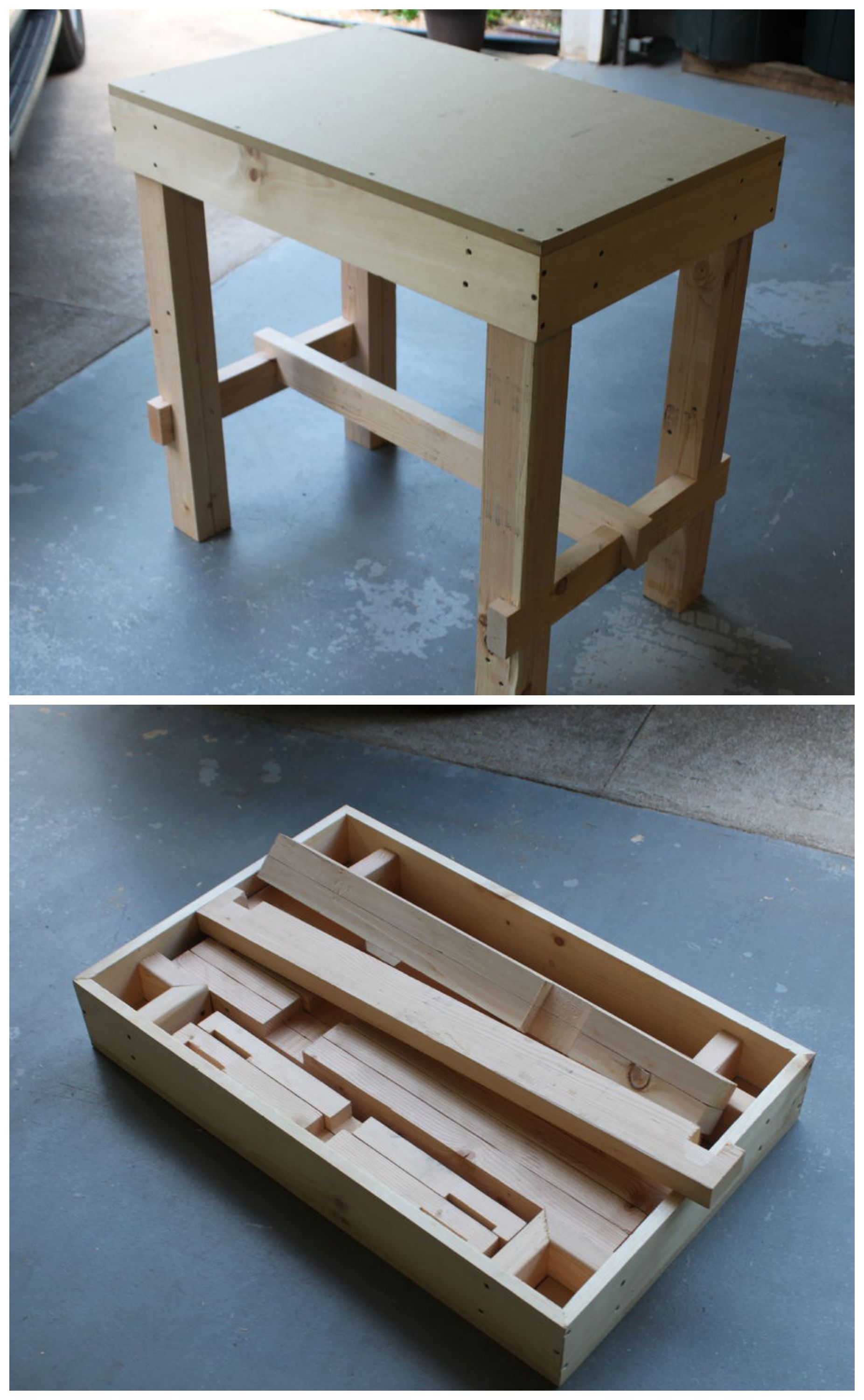 Collapsible Workbench | Woodwork ideas | Pinterest | Woodworking ...