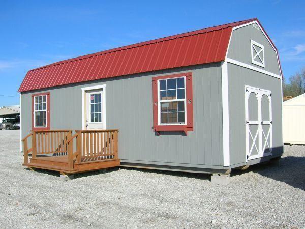 14x30 LOFTED BARN CABIN | Lofted barn cabin, Portable ...