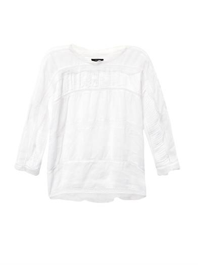 Isabel Marant Olympe lace and ruffle top