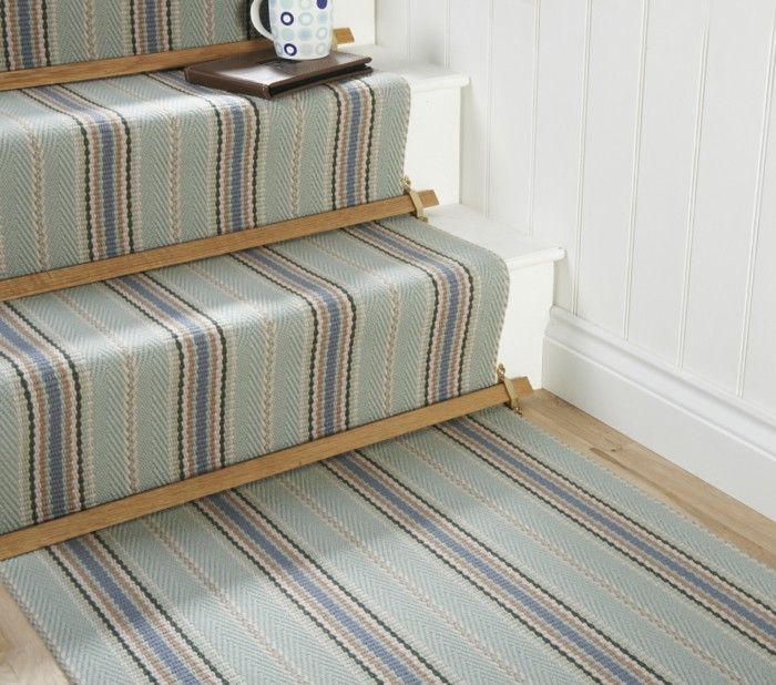 Wooden Stairs With Painted Stripes Updating Interior: Stairs In Your Home Dress Up (With