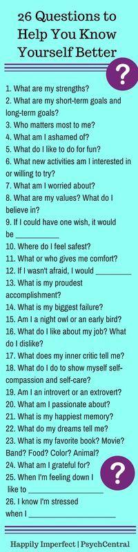 26 fragen zum kennenlernen)