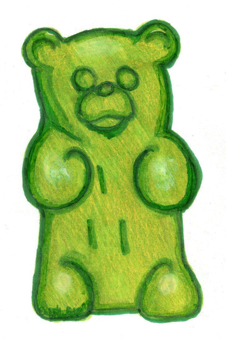 Image for Gummy Bear Drawing | Diner Design | Pinterest | Sketch pad ...