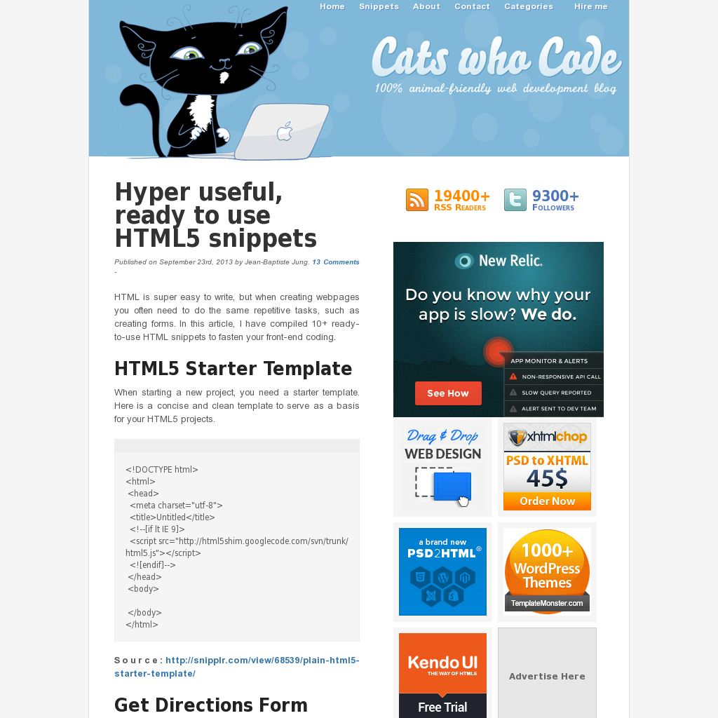 Some great code snippets Web Development Pinterest