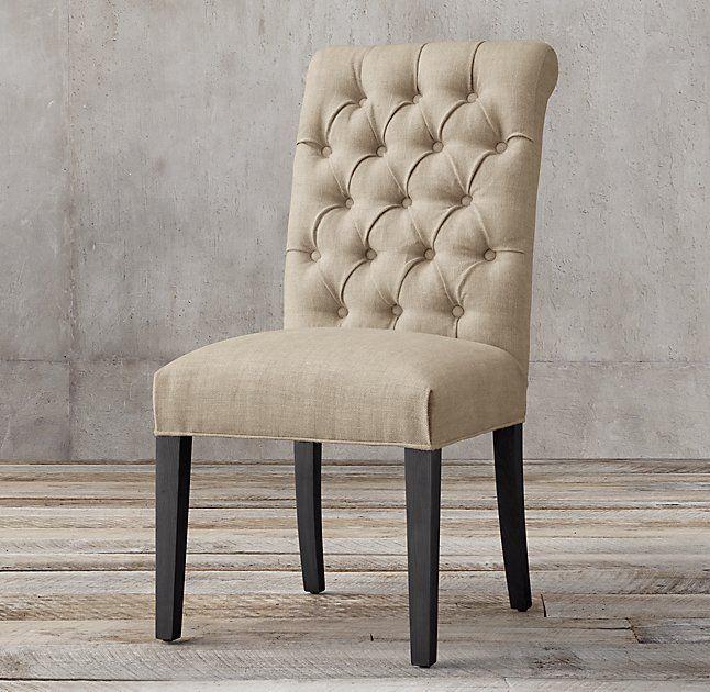 Bennett Roll-Back Fabric Side Chair