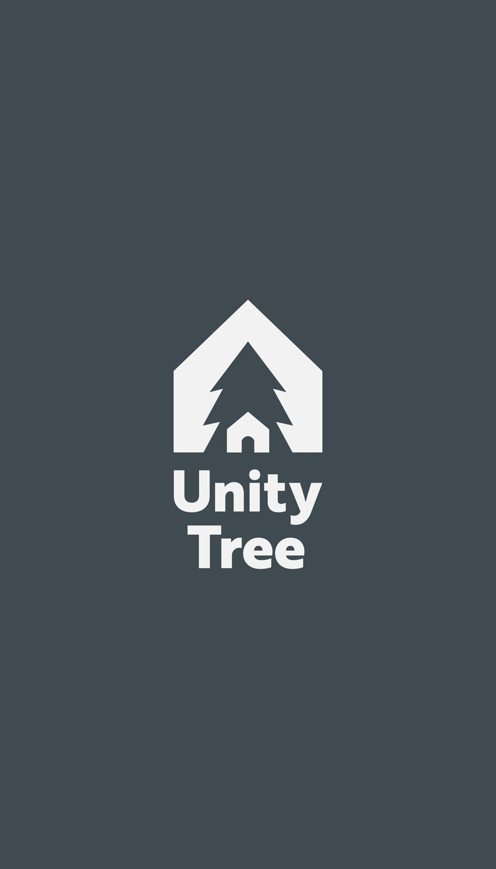 Unity Tree Logo Branding Slate Color Moving Image Typography Inspiration Tree Logos