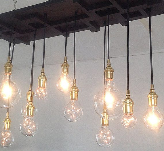 8 cluster pendant light: hanging lights - comes completely