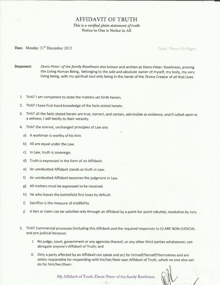 Affidavit Of Truth Template 2 Templates Bio Data Truth
