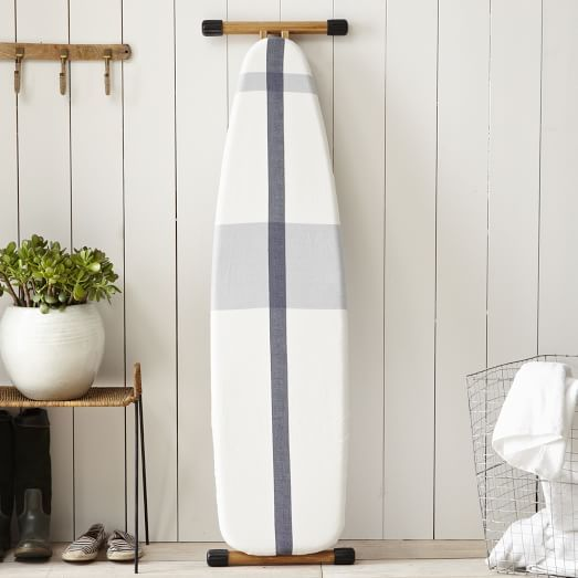 Ironing Board Cover, Surf Stripe, Stone White/Blue Fin