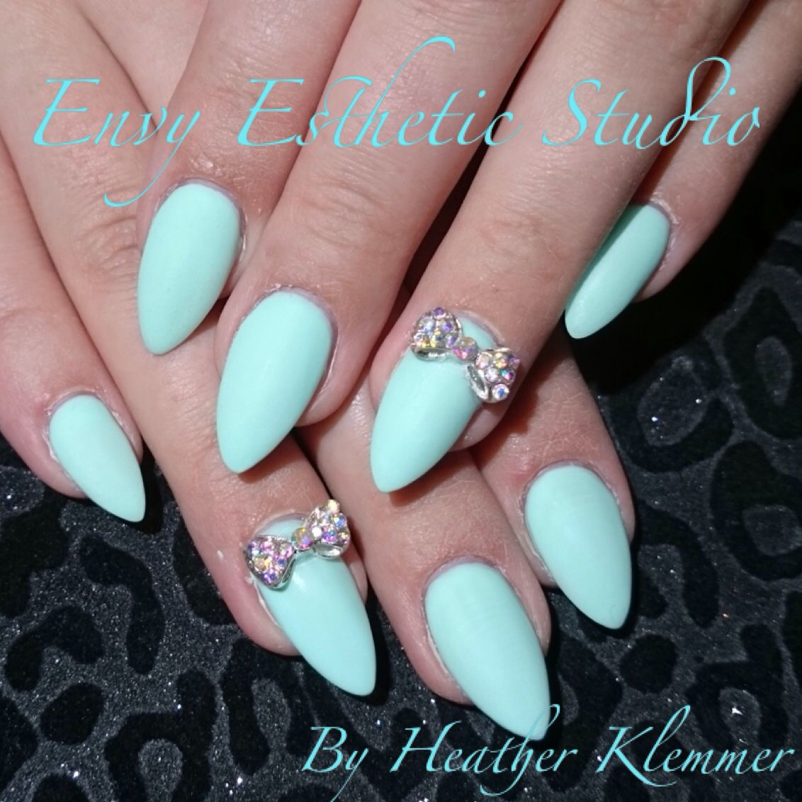 Mint green gelnails nails nailart grad nails promnails weddingnails ...