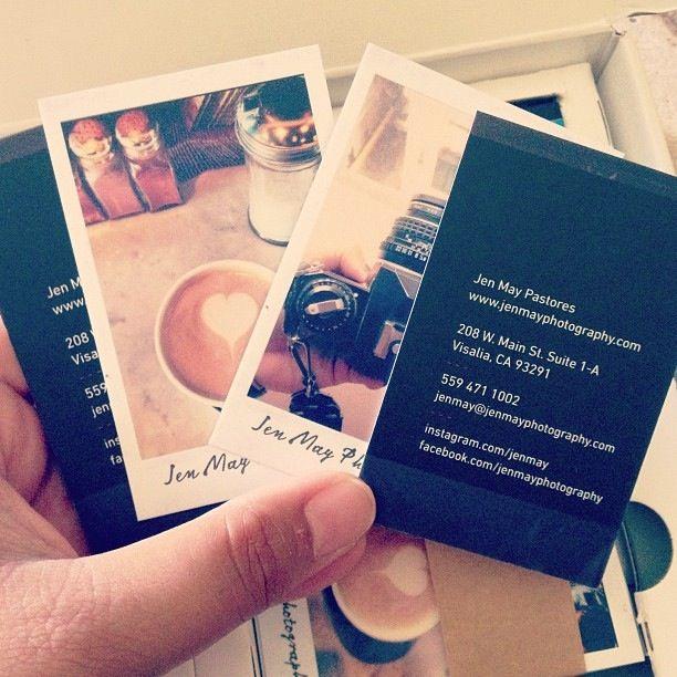 My Polaroid business cards made through moo.com   Inspiration ...