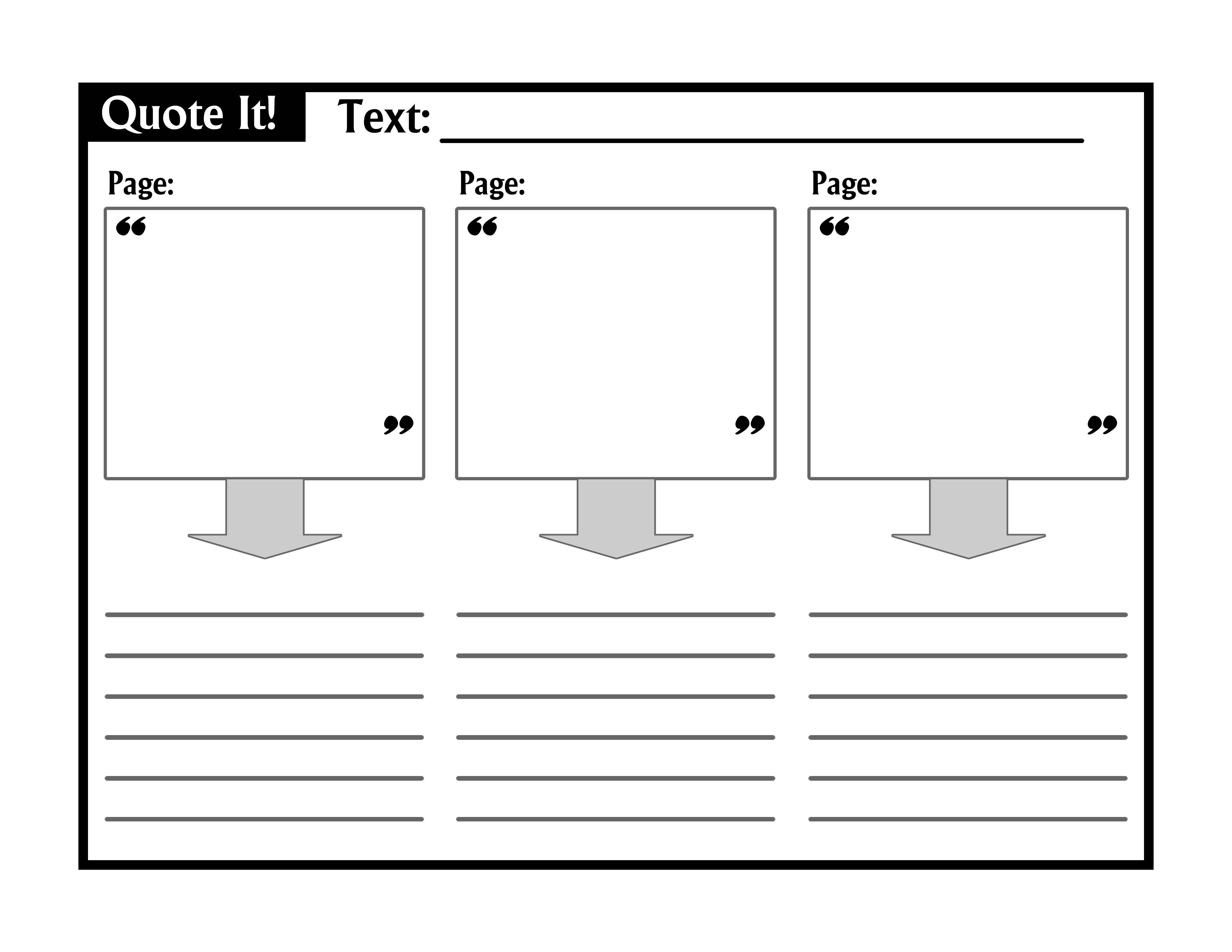 Download A Simple Easy To Use Graphic Organizer To Teach Textual Evidence Great For Students