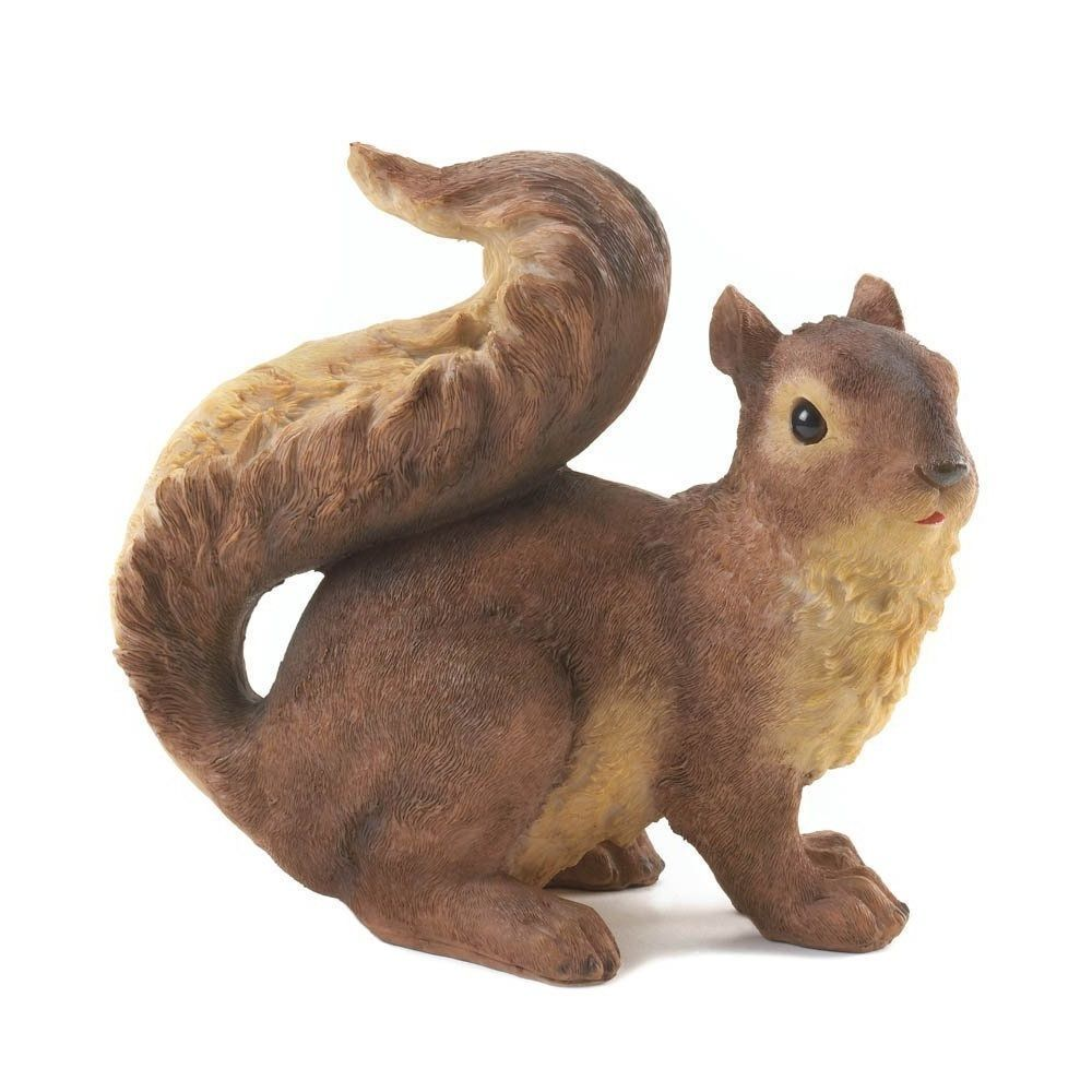 Squirrel Garden Statue Animal Yard Decor Lawn Ornaments Squirrels Statues Squirrelgardenstatue