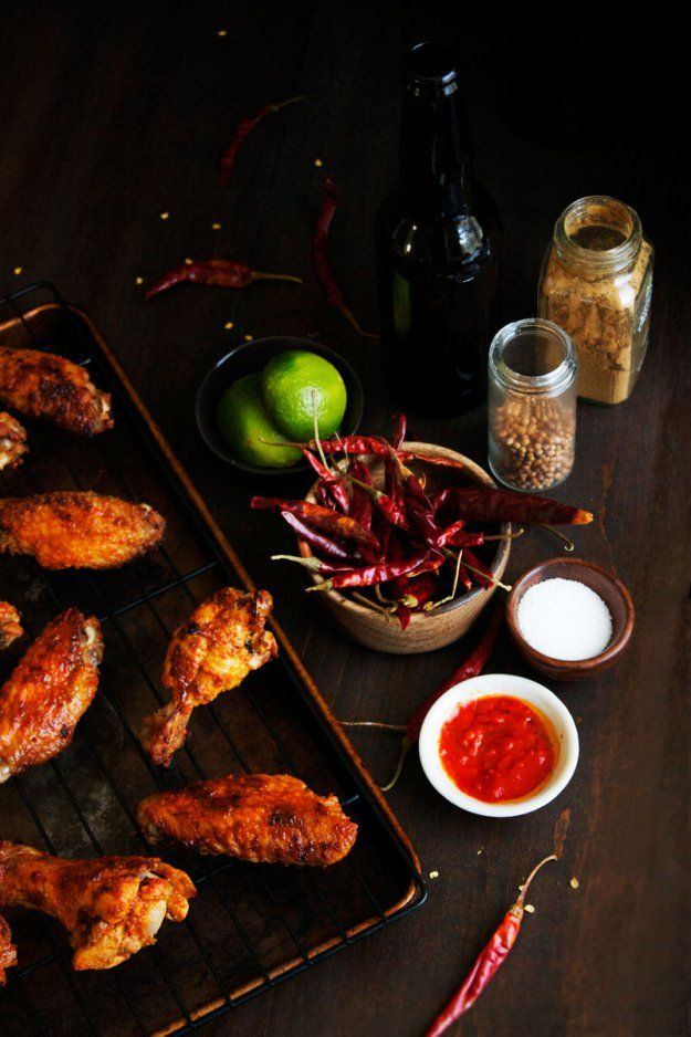 Harissa Marinated Chicken Wings Food Styling Dinner Recipes Marinated Chicken Wings Food