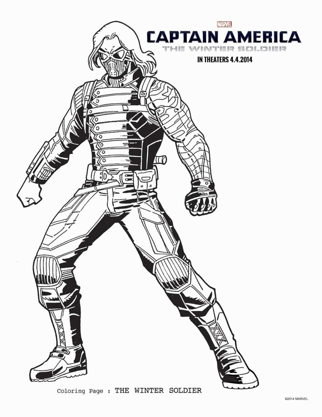 Malvorlagen Amerika Di 2020 Buku Mewarnai Avengers Winter Soldier
