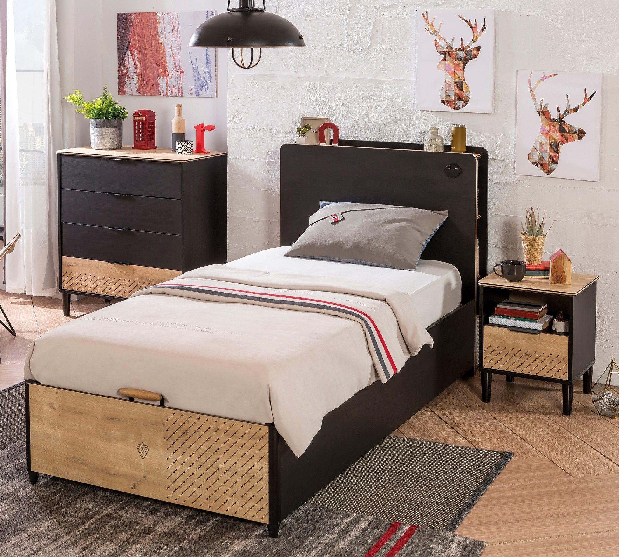 New York tienerbed kinderbed boxspring opbergbed bed
