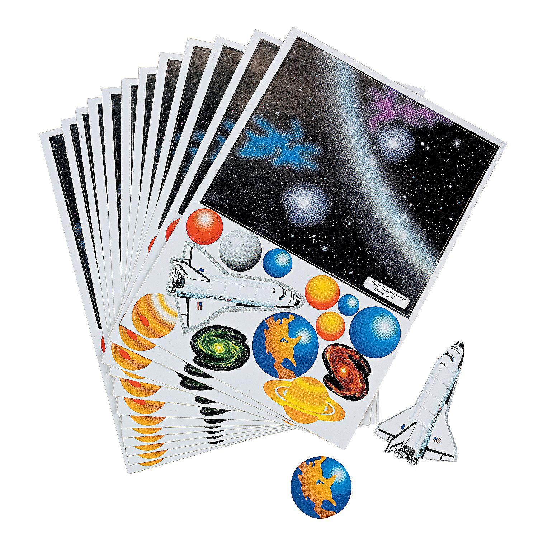12 Make Your Own Solar System Sticker Scenes
