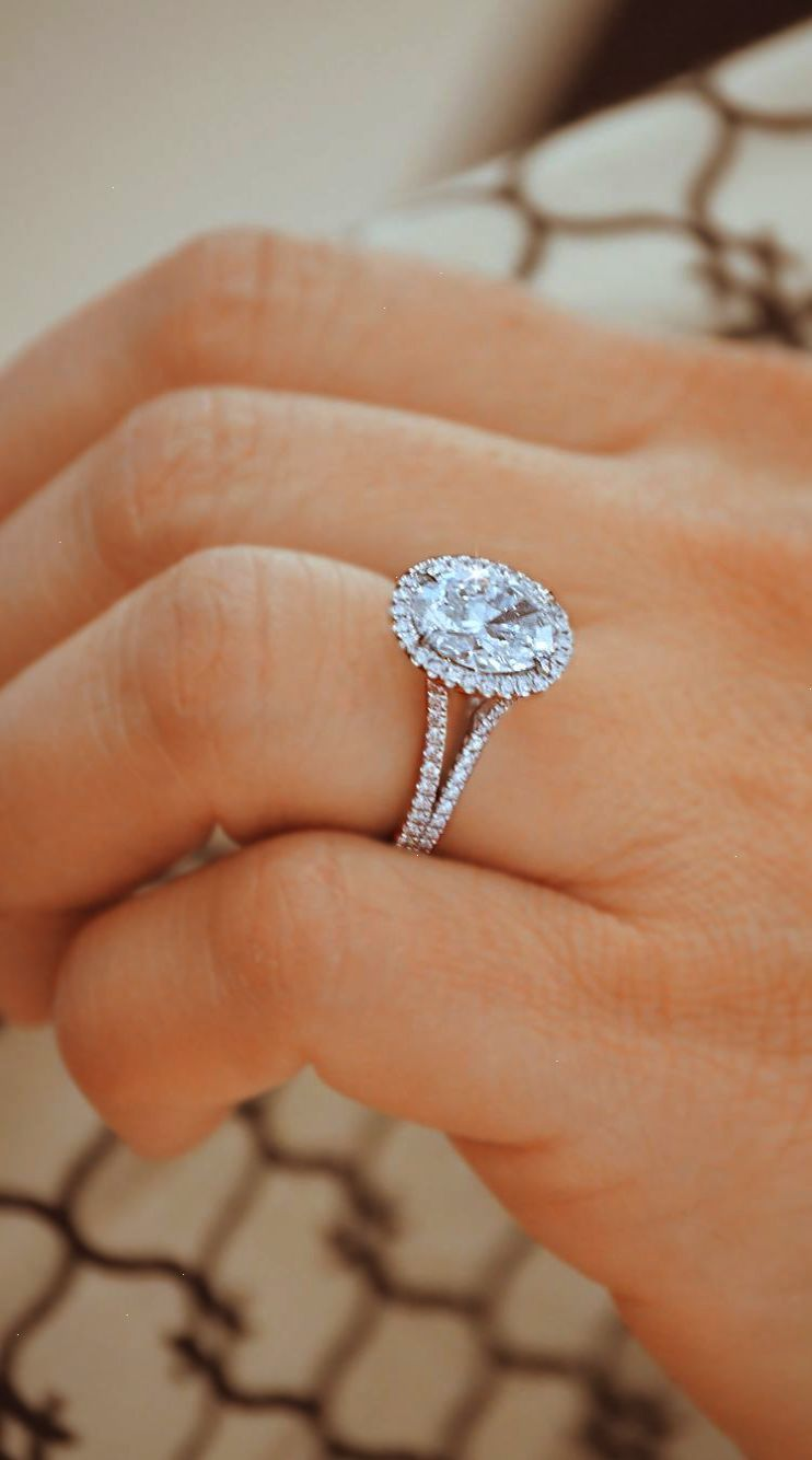 Diamond Engagement Rings Triple Cincin Tunangan Berlian Perhiasan Pernikahan Cincin Kawin Berlian