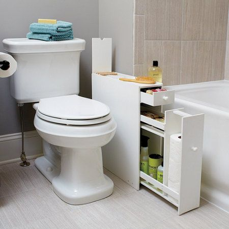 "narrow bathroom floor cabinet (only 6"" wide) 