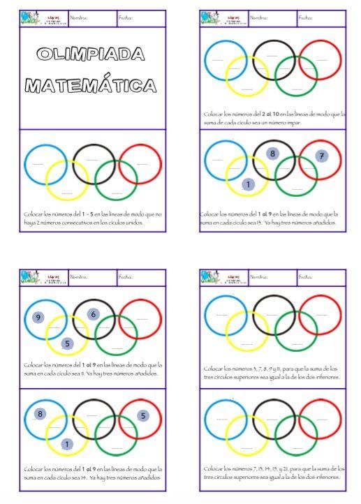 Olimpiada Matematica 7 Divertidos Juegos De Razonamiento Matematico