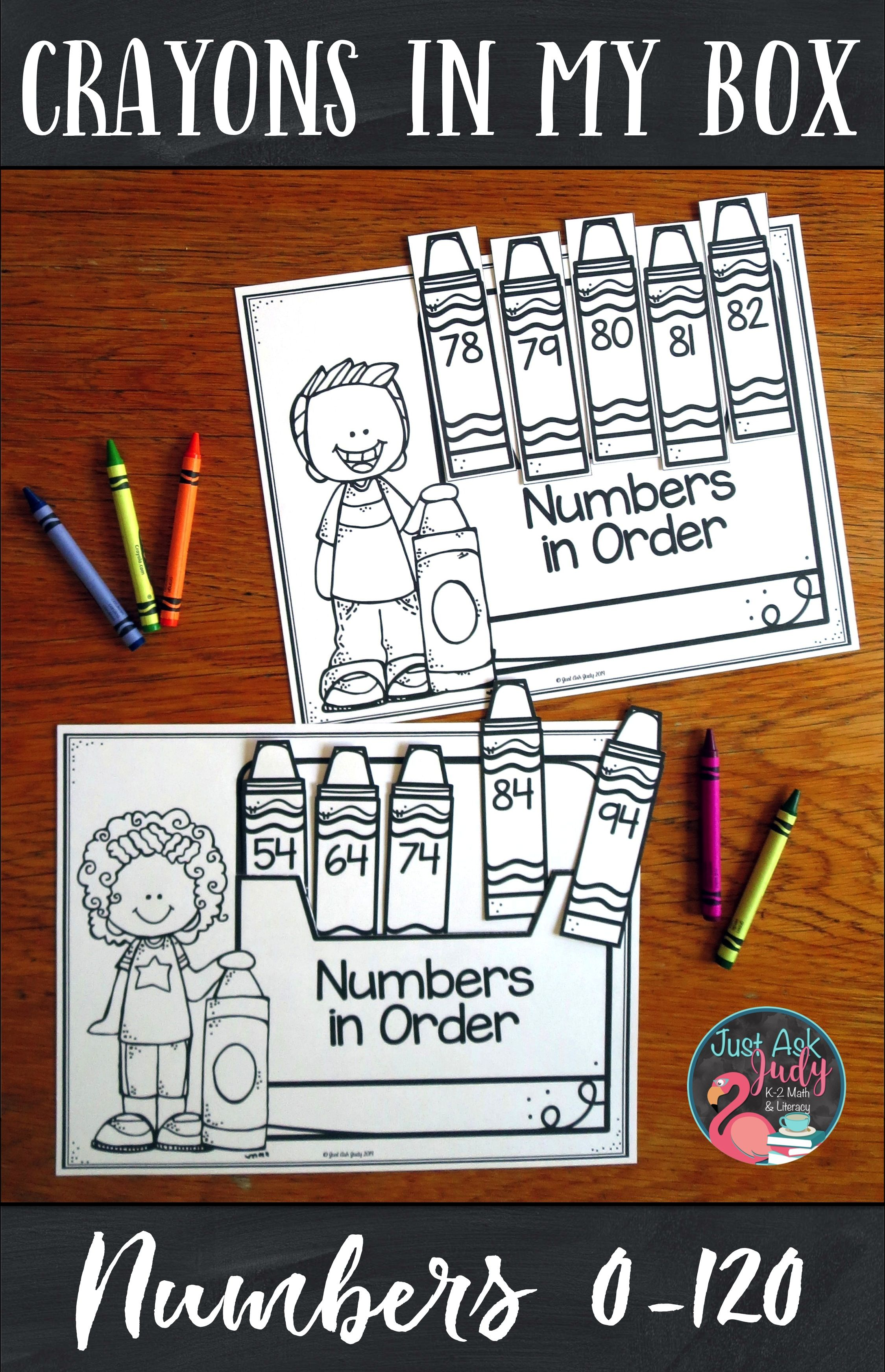 Ordering Numbers 0 120 Crayons In My Box