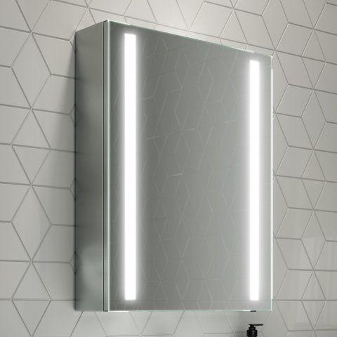 500mmx650mm Dawn Illuminated Led Mirror Cabinet Soak Com Led Mirror Mirror Cabinets Bathroom Mirror Lights