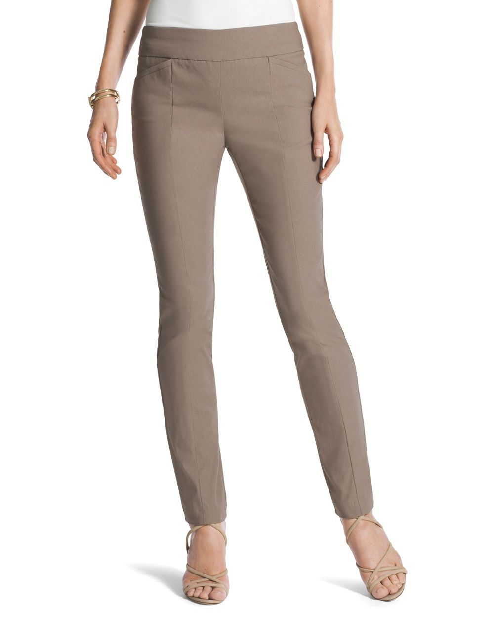 413fb8662719 Chico's Women's So Slimming Brigitte Pants, Talpa Taupe, Size: 2.5 (14 - L)