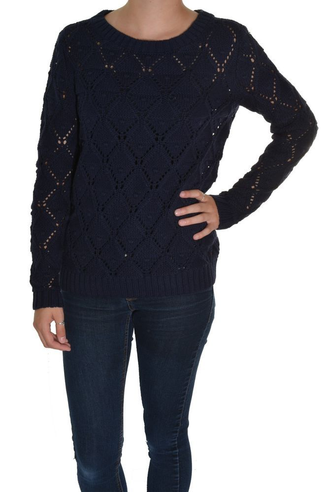Tommy Hilfiger Woven Knit Sweater Crew Neck Shirt Pullover Long Sleeve Top   #TommyHilfiger #ScoopNeck