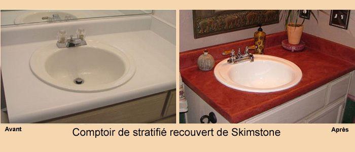 enduit dcoratif skimstone pour comptoir de cuisine murs et planchers - Dessus De Comptoir Salle De Bain