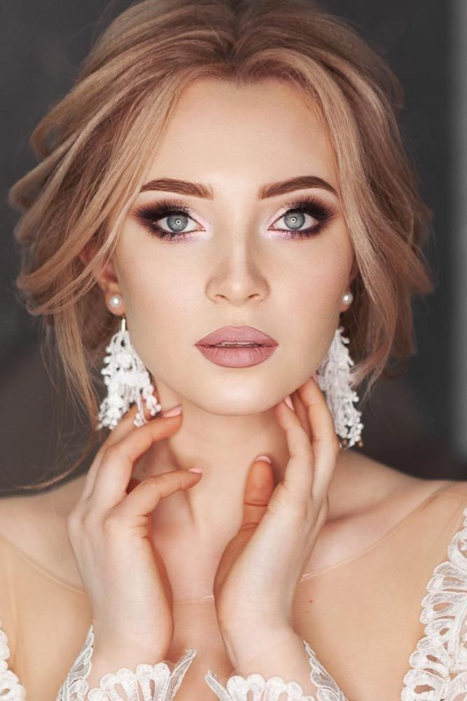 42 Magnificent Wedding Makeup Looks For Your Big Day –  Soft Wedding Makeup Idea…